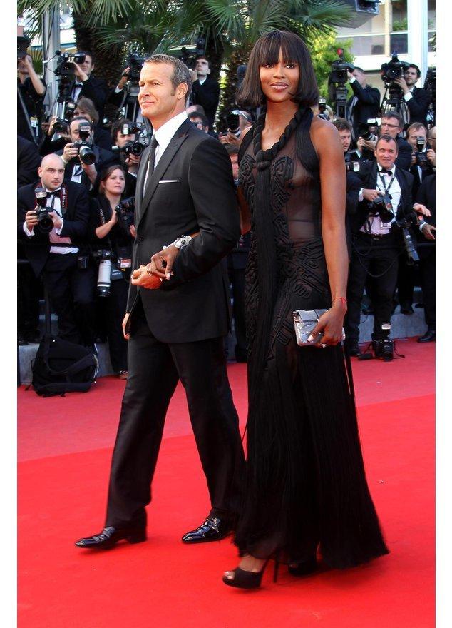 Naomi Campbell und Vladislav Doronin auf dem roten Teppich