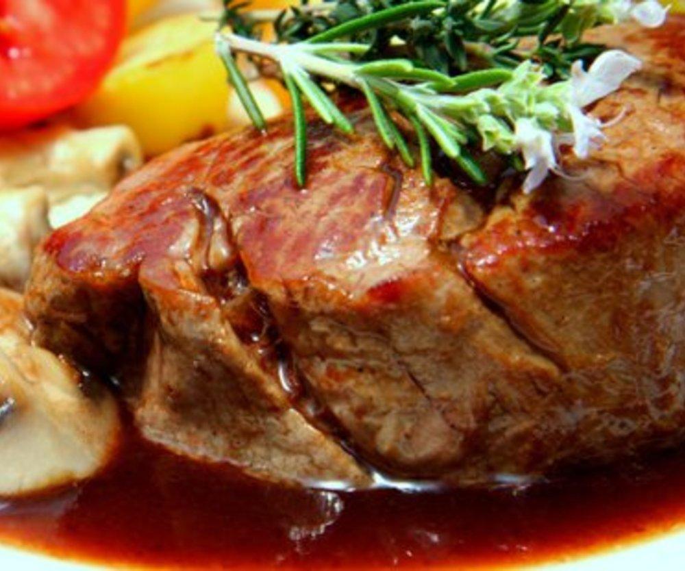 Rinderfilet Rotweinsoße