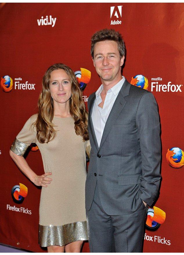 Edward Norton und Shauna Robertson bei einem Event in Cannes