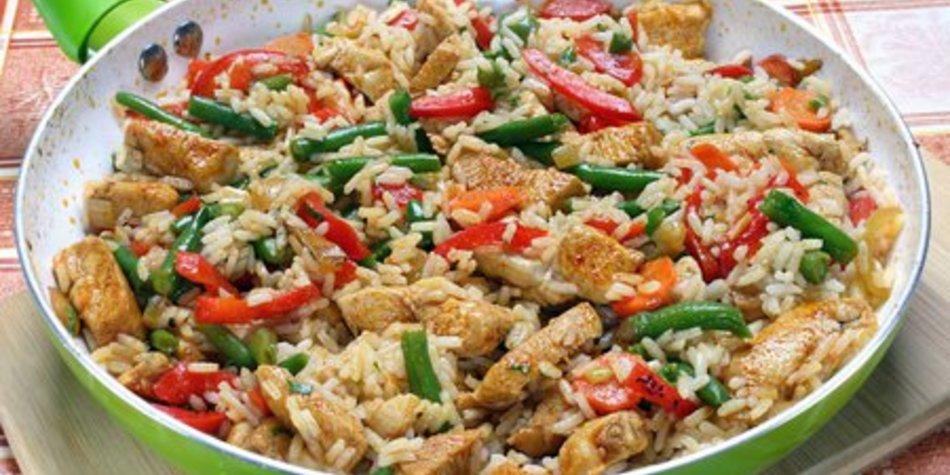 Paprika Reispfanne