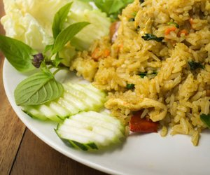 Reispfanne mit Paprika