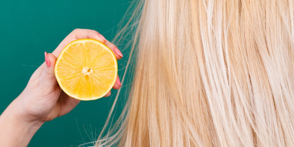 Haare aufhellen mit Zitrone