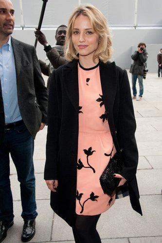 Dianna Agron besucht eine Modenschau.