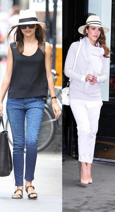 Miranda Kerr und Jessica Alba im sommerlichen Style mit Strohhut