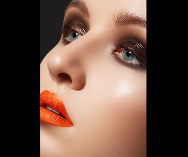 Lippen in Orange