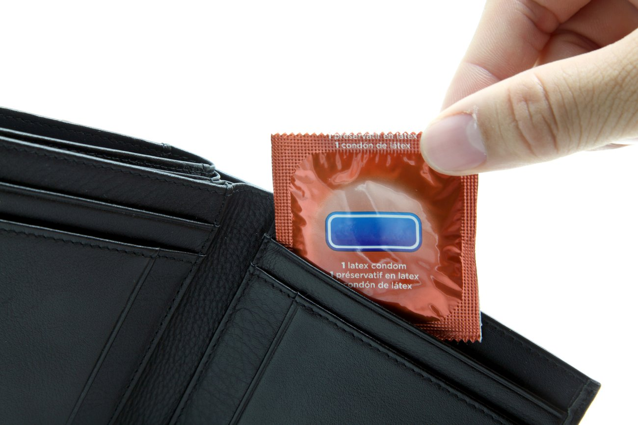 Kondom im Portemonnaie