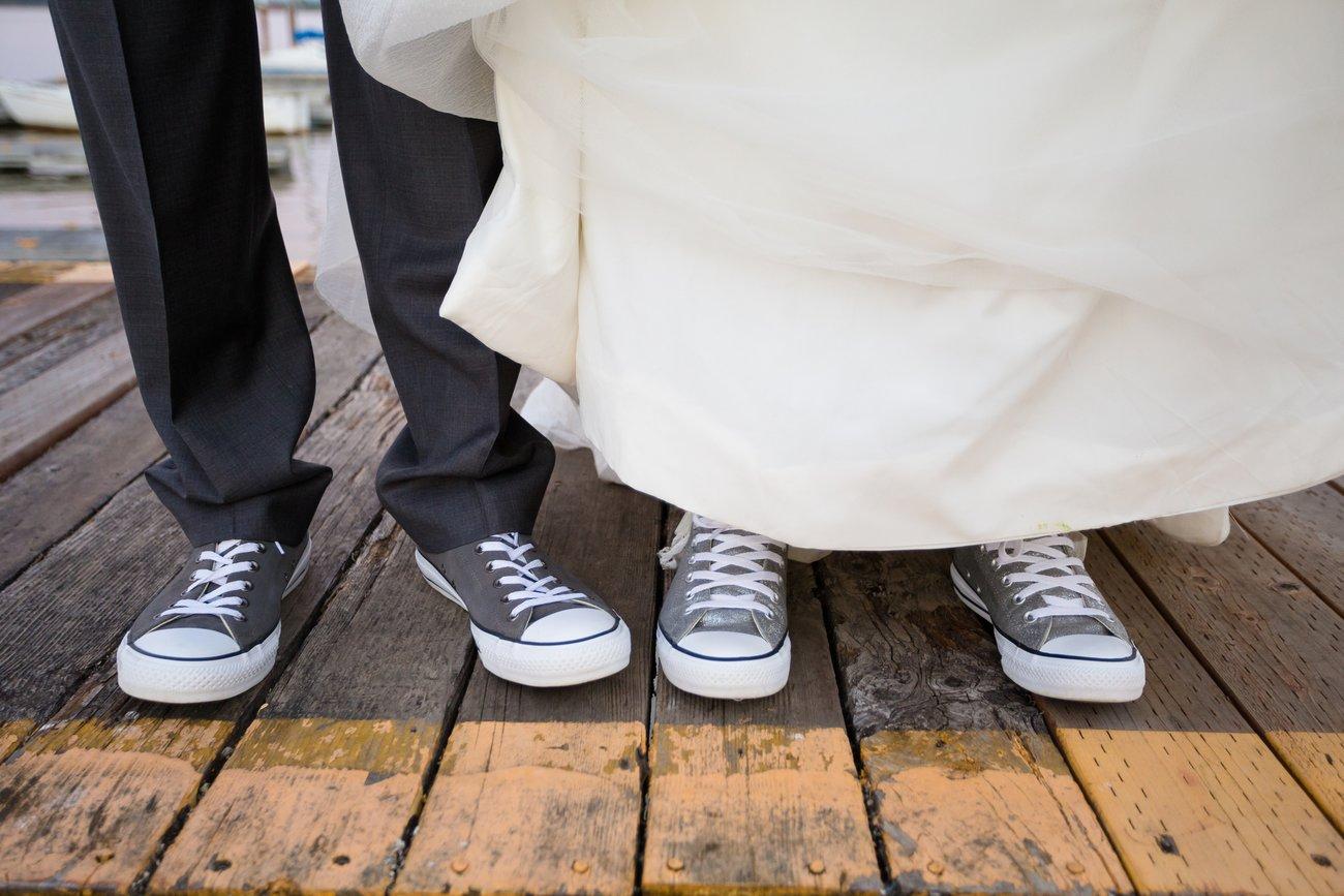 Auch bei der Schuhauswahl muss man sich nihct an Regeln halten- Wie wär's mal mit Partnerlook?