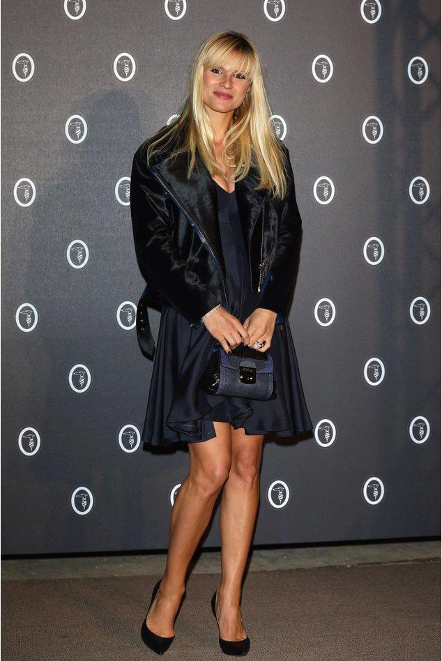 Michelle Hunziker elegant in schwarz