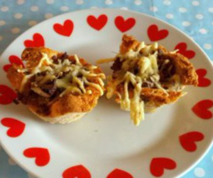 Herzhafte Hack Muffins