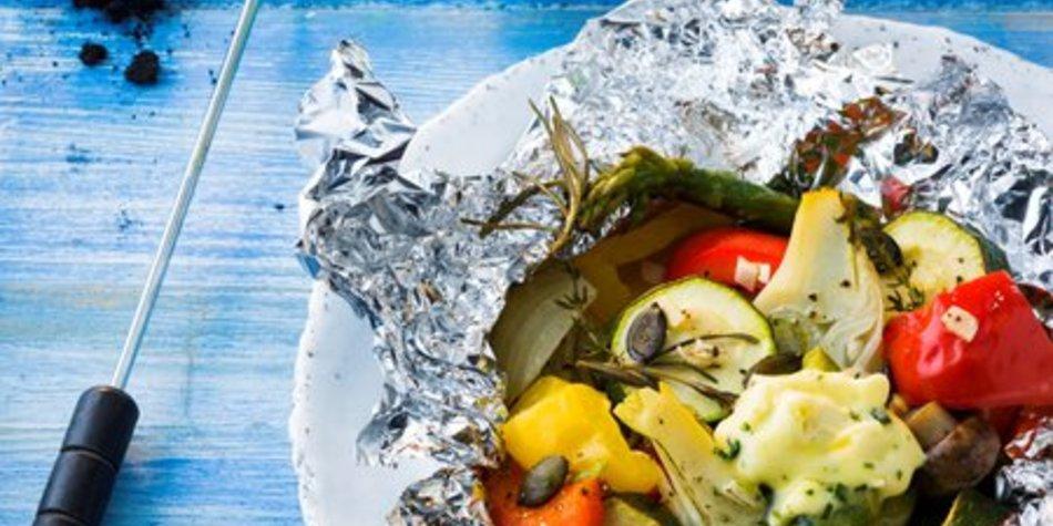 Gegrilltes Gemüse würzig verfeinert mit MILRAM FrühlingsKräuterButter