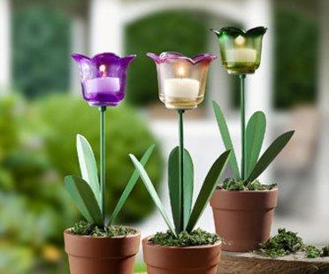 Tulpen-Teelichthalter von Pagen