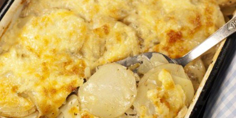 Kartoffelauflauf mit Sahne