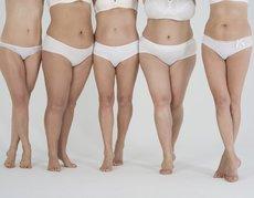 Verschiedene Frauenkörper
