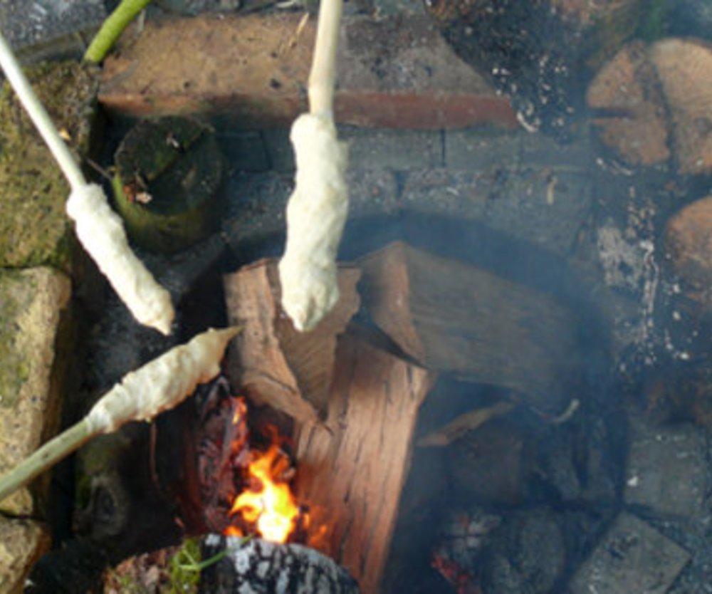 Stockbrot fürs Lagerfeuer