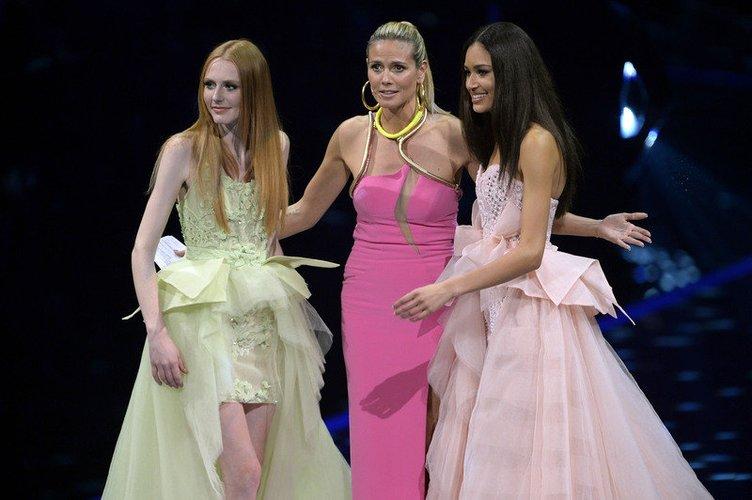 Heidi Klum mit Lovelyn und Maike