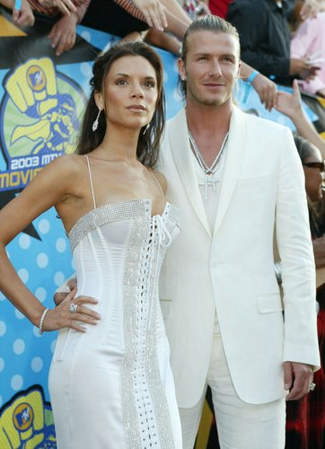 David Beckham und Victoria Beckham auf den MTV Movie Awards