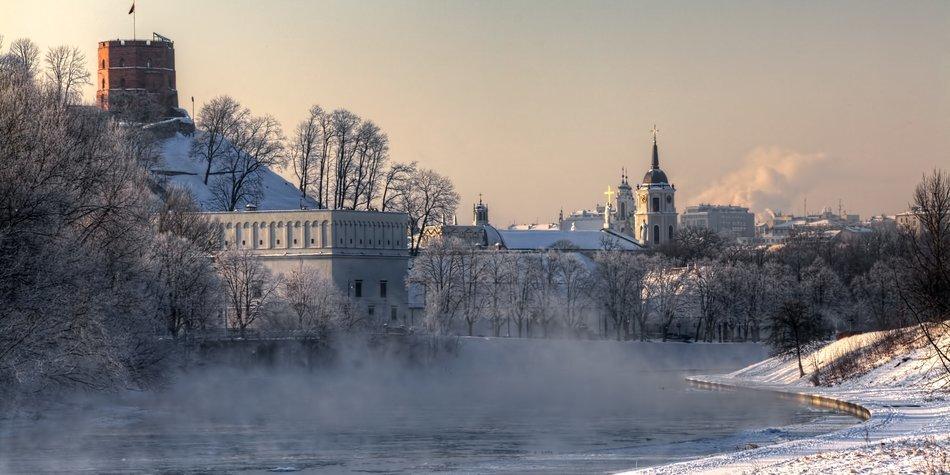 Winterzeit in Vilnius