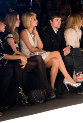 Paris Hilton auf der Fashionweek New York bei William Rast