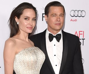 HOLLYWOOD, CA - NOVEMBER 05: Writer-director-producer-actress Angelina Jolie Pitt (L) and actor-producer Brad Pitt attend the opening night gala premiere of Universal Pictures' 'By the Sea' during AFI FEST 2015 presented by Audi at TCL Chinese 6 Theatres on November 5, 2015 in Hollywood, California. (Photo by Jason Merritt/Getty Images)