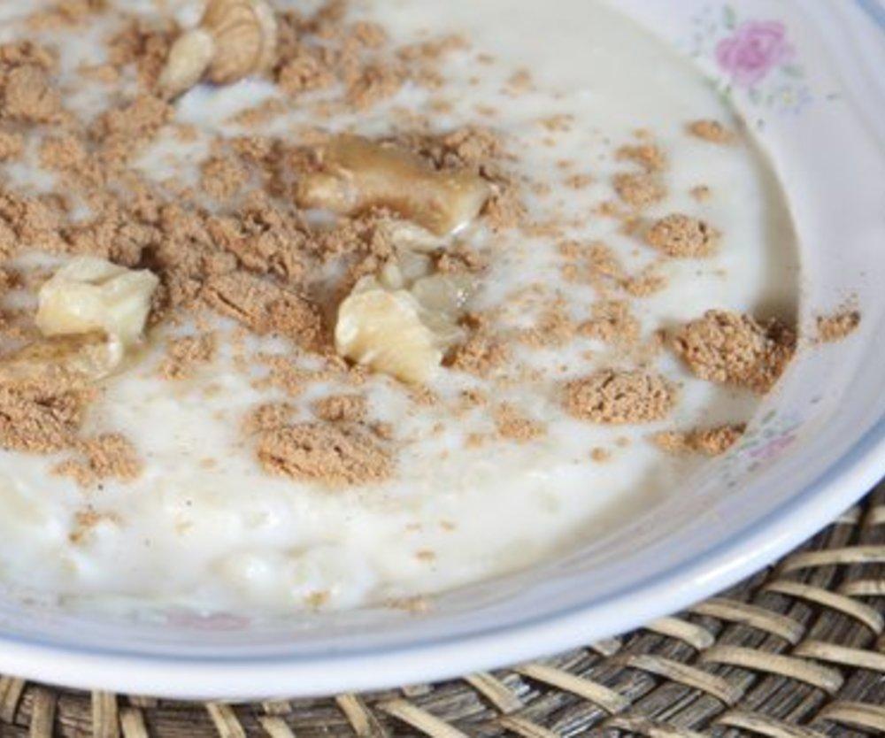 Milchreis mit normalem Reis