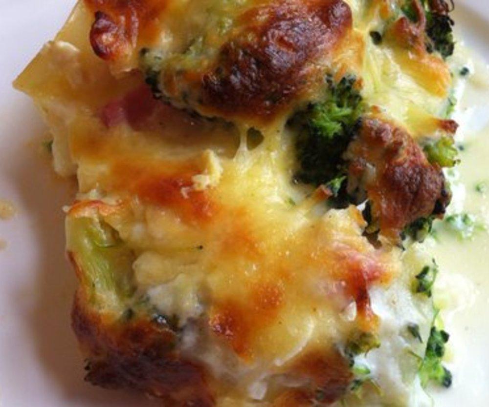 Brokkoli-Schinken-Lasagne