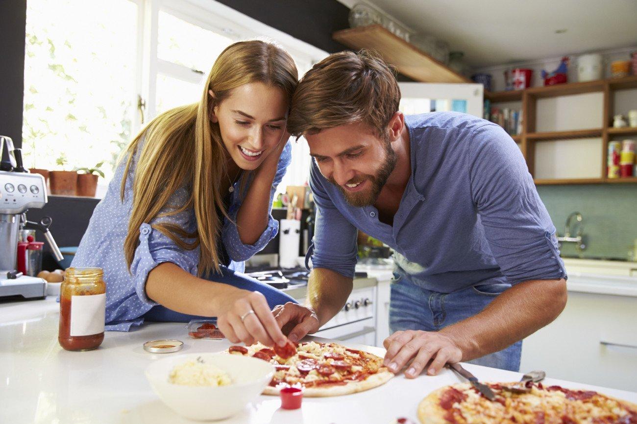 Romantische Überraschung Kochen
