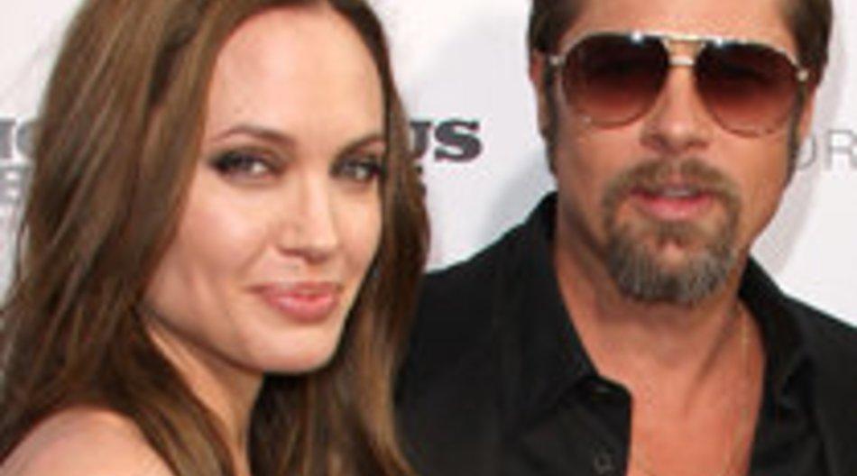 Angelina Jolie und Brad Pitt zusammen beim Super Bowl