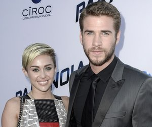 """LOS ANGELES, CA - AUGUST 08: Actress Miley Cyrus and actor Liam Hemsworth attend the premiere of Relativity Media's """"Paranoia"""" at the DGA Theater on August 8, 2013 in Los Angeles, California. (Photo by Kevin Winter/Getty Images)"""