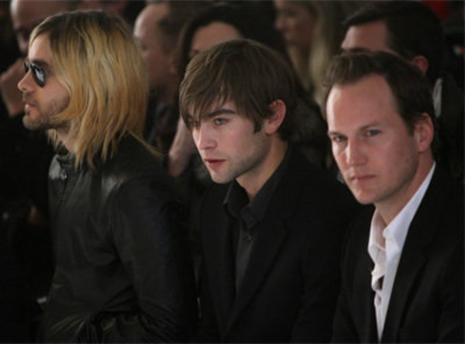 Chace Crawford, Patrick Wilson und Jared Leto in der Frontrow