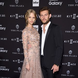 NEW YORK, NY - SEPTEMBER 16: Alex Pettyfer and Marloes Horst attends the 2015 Harper's BAZAAR ICONS Event at The Plaza Hotel on September 16, 2015 in New York City. (Photo by Jamie McCarthy/Getty Images)