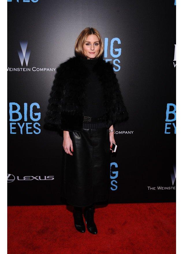 Olivia Palermo in einem schwarzen Outfit