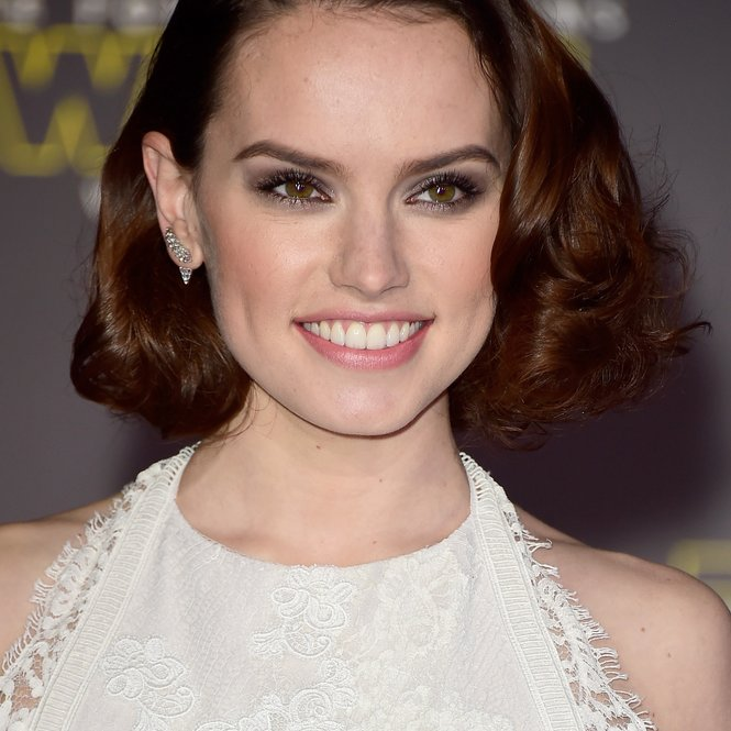"HOLLYWOOD, CA - DECEMBER 14:  Actress Daisy Ridley attends Premiere of Walt Disney Pictures and Lucasfilm's ""Star Wars: The Force Awakens"" on December 14, 2015 in Hollywood, California.  (Photo by Frazer Harrison/Getty Images)"