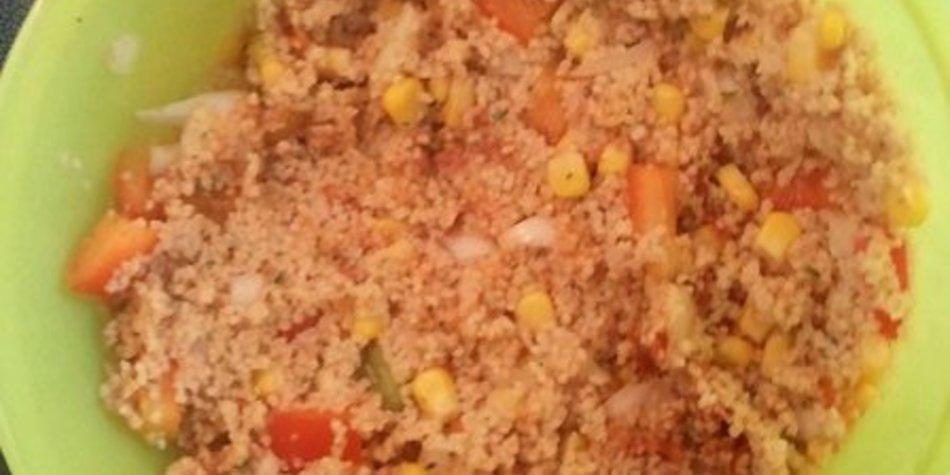 Warmer / Kalter Couscous-Salat