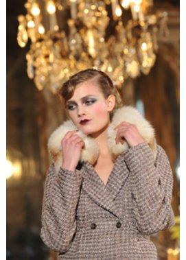 Make-up Trends bei John Galliano auf der Fashion Week Paris.
