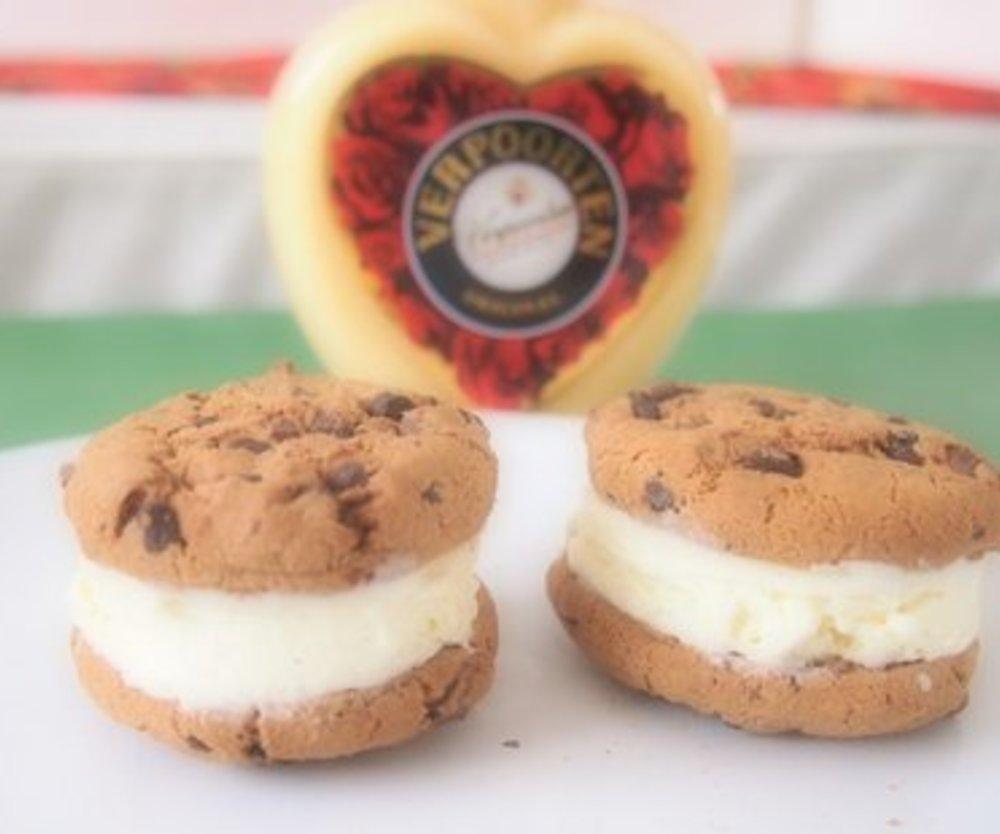 Cookie Hamburger mit eiskalter Verpoorten Füllung