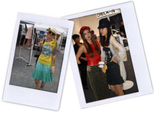 Stephanie, Sui und Linne präsentieren ihren New York-Style.