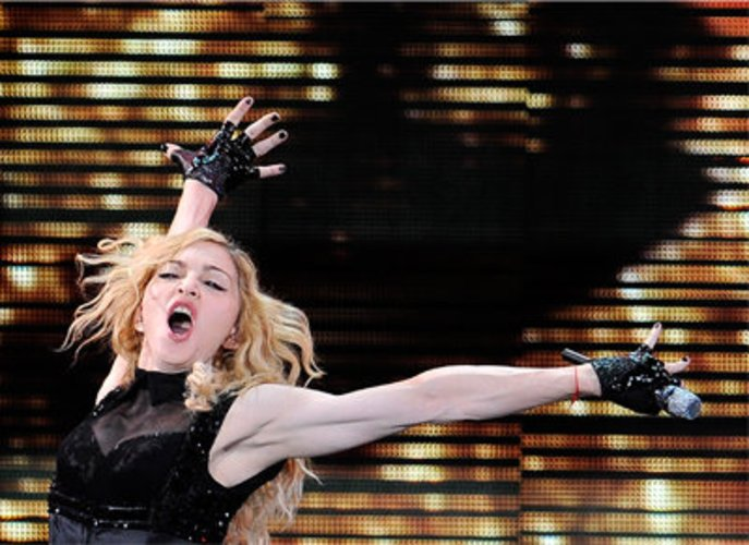 Madonna ist durchtrainiert.