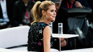 PALMA DE MALLORCA, SPAIN - MAY 12: Heidi Klum during the finals of 'Germany's Next Topmodel' at Coliseo Balear on May 12, 2016 in Palma de Mallorca, Spain. (Photo by Matthias Nareyek/Getty Images)