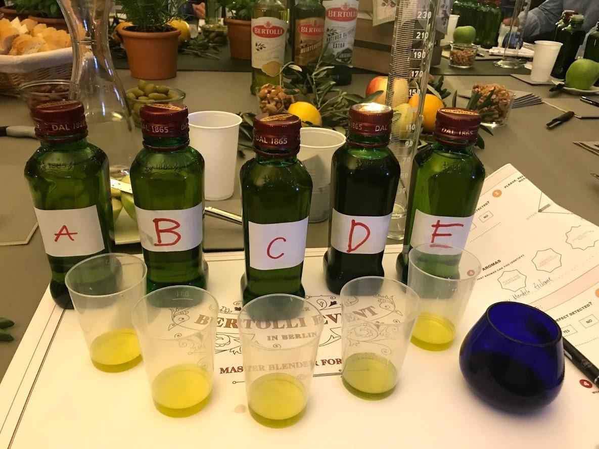 Bertolli Olivenöl Tasting
