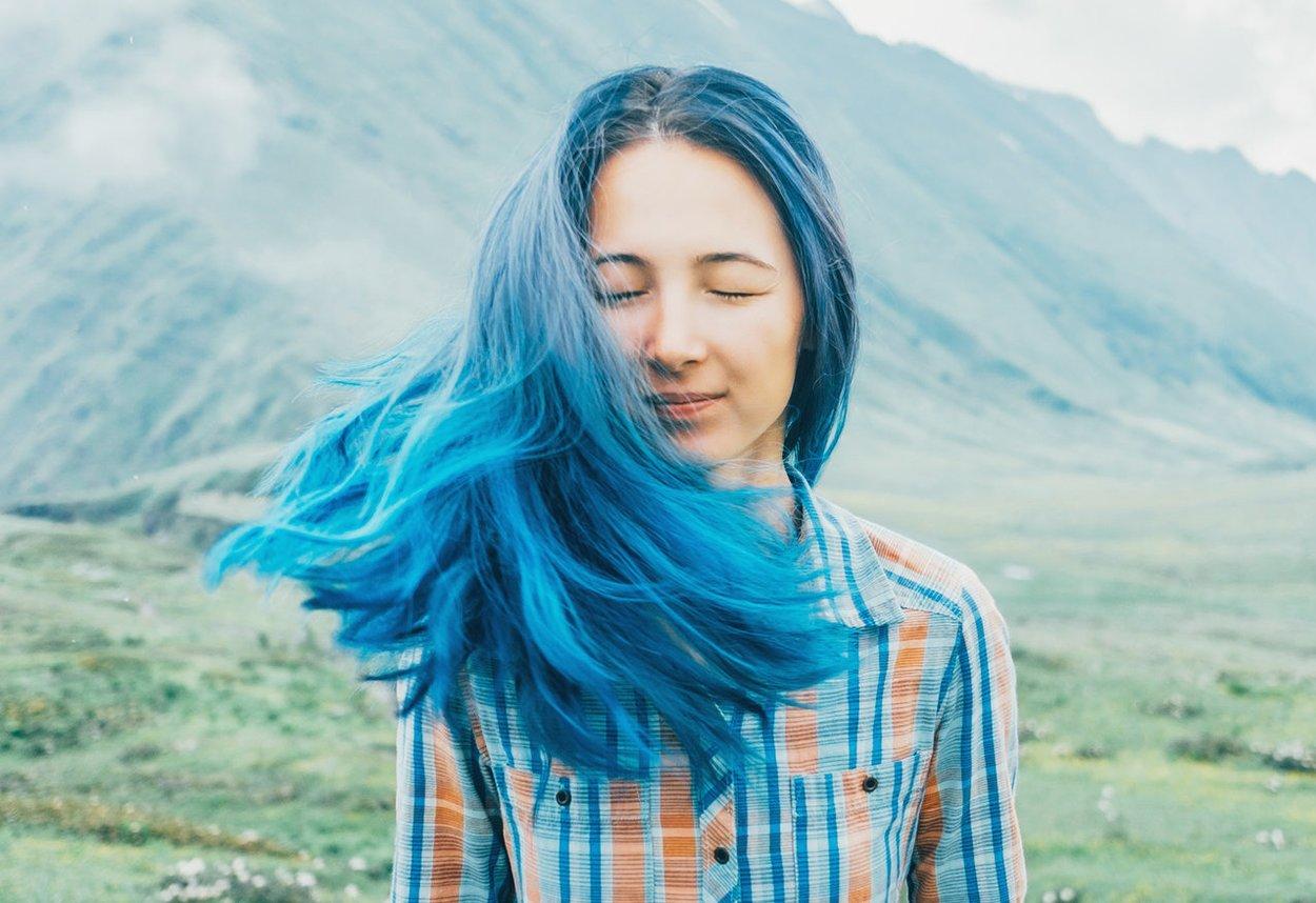 Türkise Haare