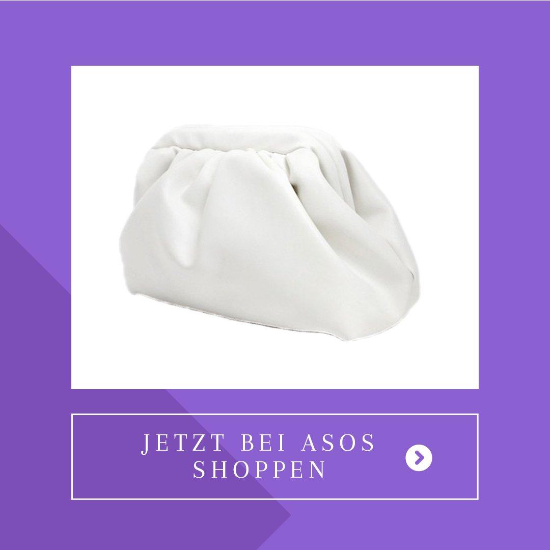 Asos Handtasche Clutch weiss