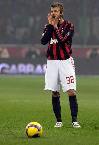 David Beckham - AC Mailand gegen SV Hamburg