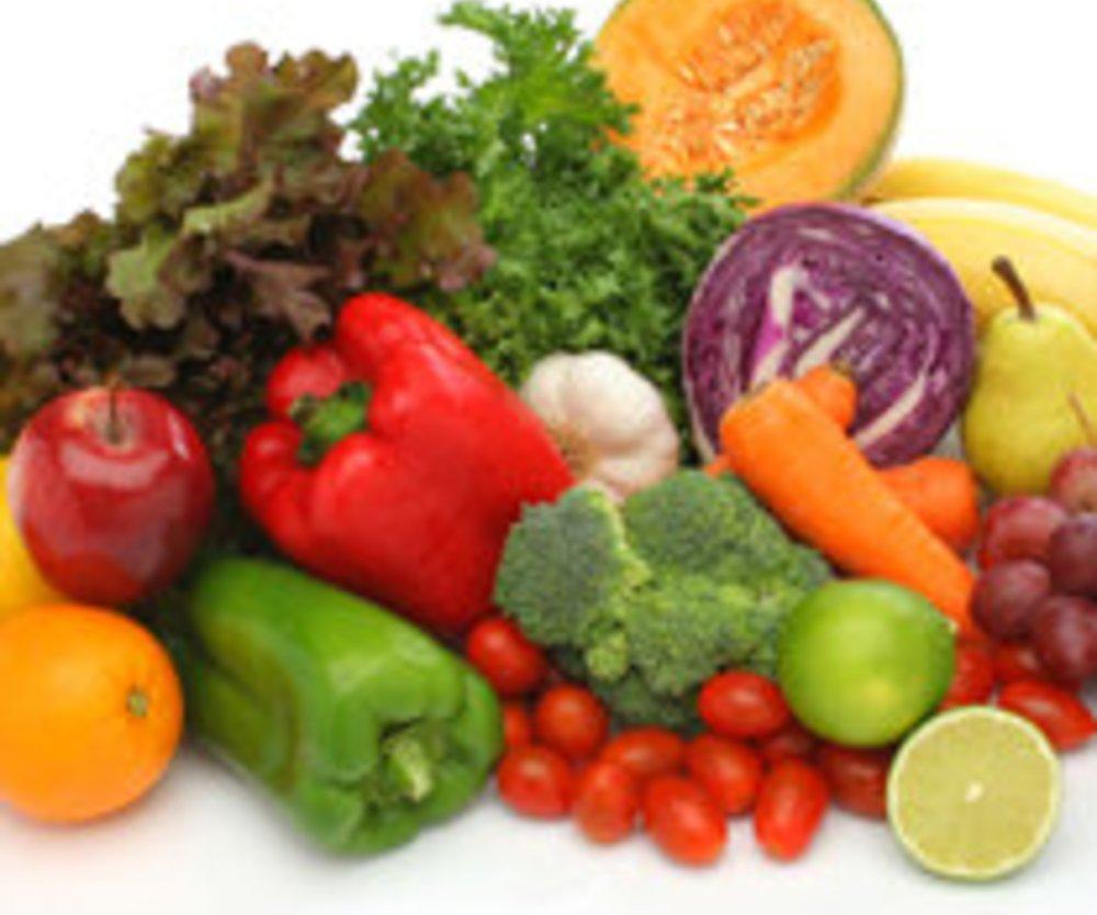 Obst und Gemüse für die Bikini-Figur