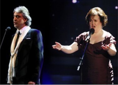 Susan Boyle soll ein Duett mit Andrea Bocelli singen