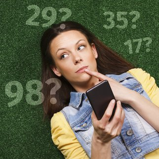 Woman thinking while texting message
