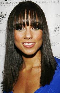 Alicia Keys mit Maxi Pony im Sleek Look