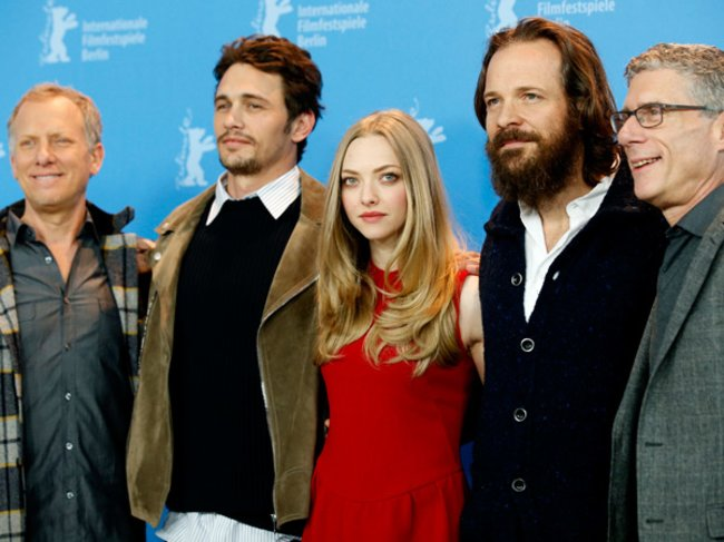 Rob Epstein, James Franco, Amanda Seyfried, Peter Sarsgaard, Jeffrey Friedman auf der Berlinale