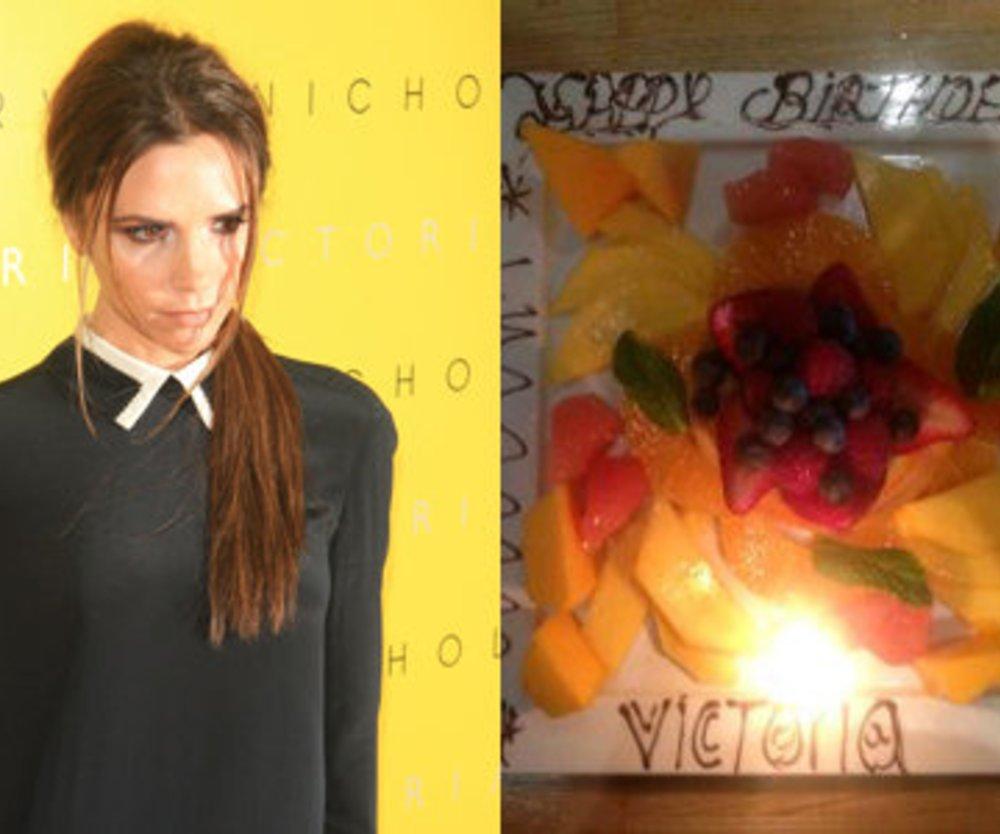 Victoria Beckham feiert ohne Kalorien