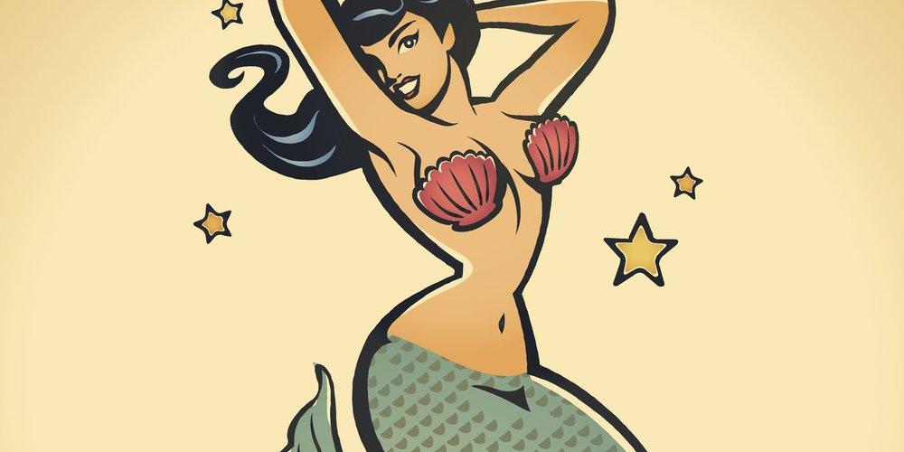 Meerjungfrauen-Tattoo