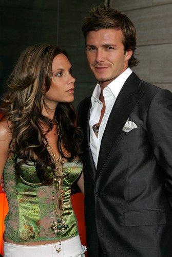David Beckham und Victoria Beckham im Juni 2005